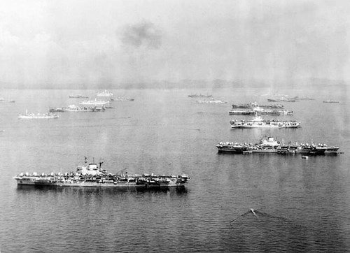 Carriers at anchor